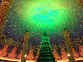 タイ,バンコク,ワットパクナム,パクナム寺院,Wat Paknam,วัดปากน้ำ ภาษีเจริญ,行き方,観光,スポット,天井画,おすすめ,説明