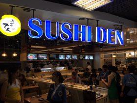 スワンナプーム空港,回転ずし,寿司,でん,グルメ,日本料理,和食,Sushi Den,Suvarnabhumi Airport