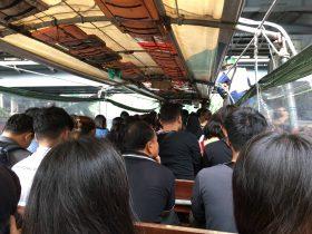 タイ,バンコク,船,センセープ運河,Klong Saen Saep Express Boat,渡し船,路線図,運航地図