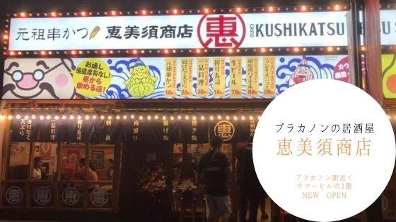 プラカノン,居酒屋,おすすめ,恵美須商店,恵比寿,戎